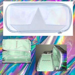 Holographic Pencil Case Travel Makeup Brush Bag